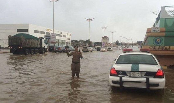 police in flood