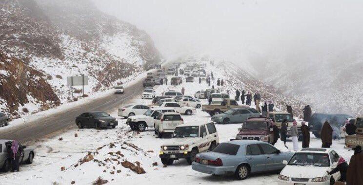 Saudi mountains snow