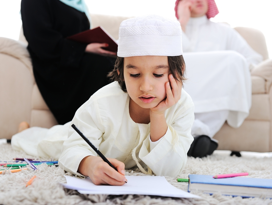 Kid wearing traditional garment