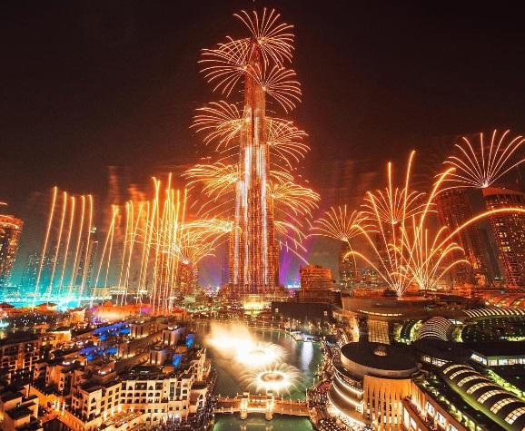 Dubai Burj Khalifa Fireworks