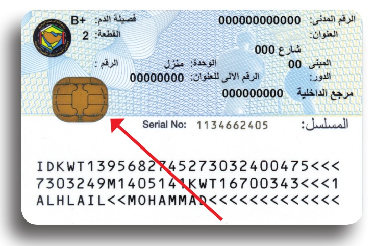 smart civil id card kuwait