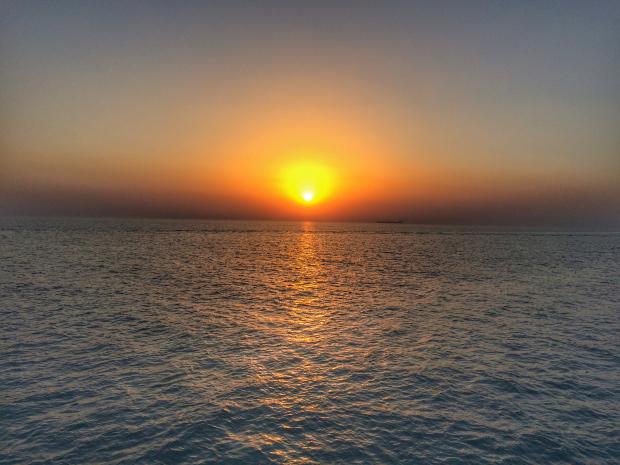 Kuwait beach sunset