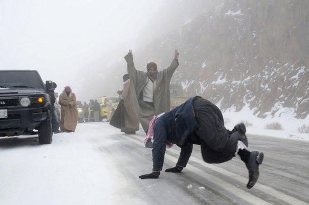 saudi snow fun