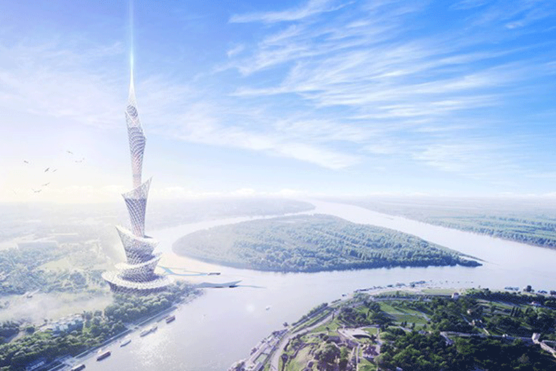 Rendering of skyscrapper