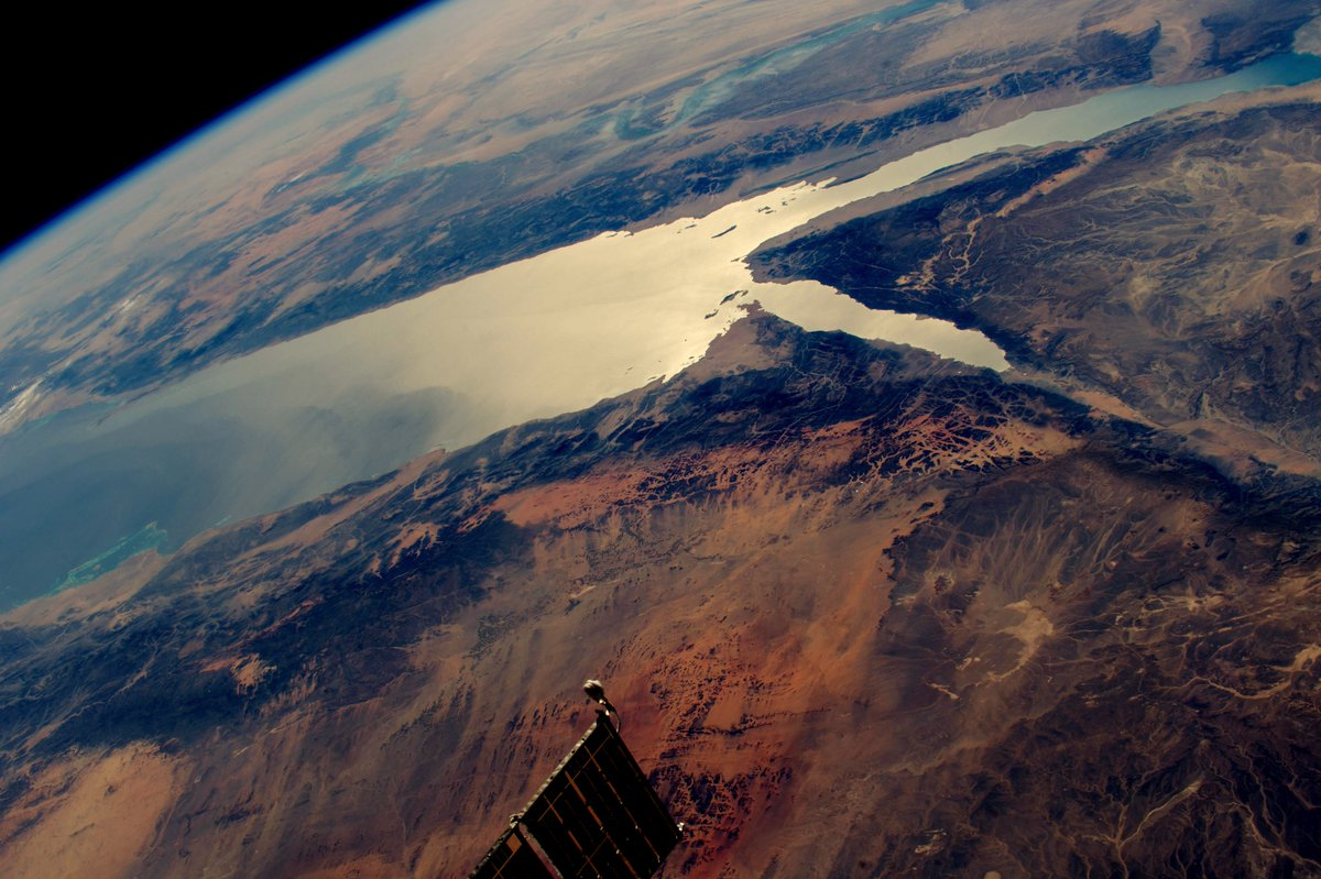 NASA photo from space over red sea