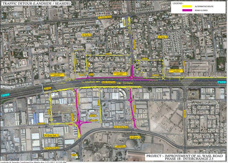 Dubai Traffic Detours