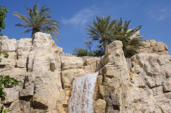 wild wadi waterfall dubai
