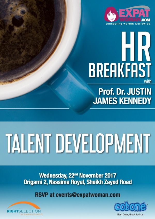 ExpatWoman's HR Breakfast in Dubai with Prof. Dr. Justin James Kennedy