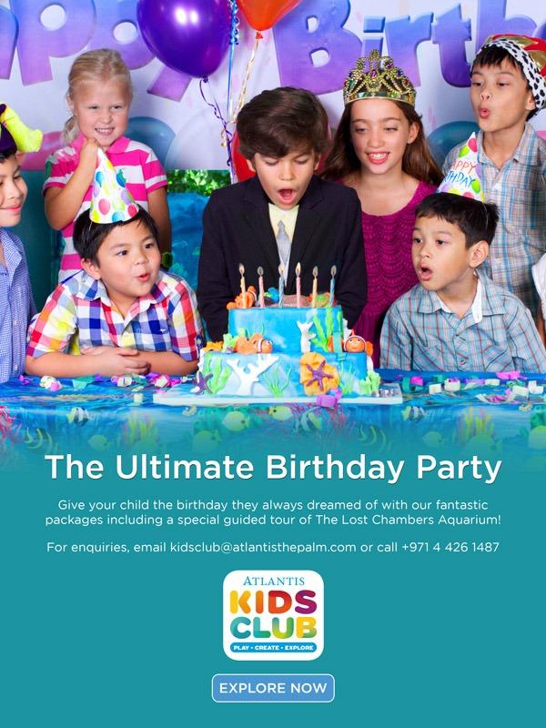Kids Birthday Parties in Dubai at Atlantis, The Palm