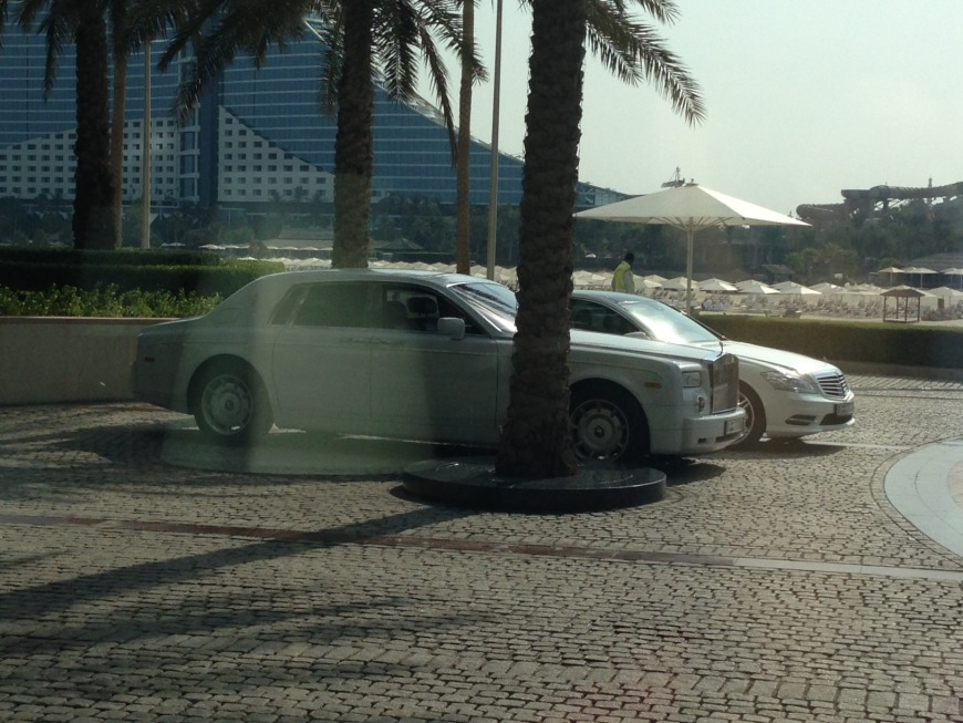 Fabulous cars at the Burj Al Arab