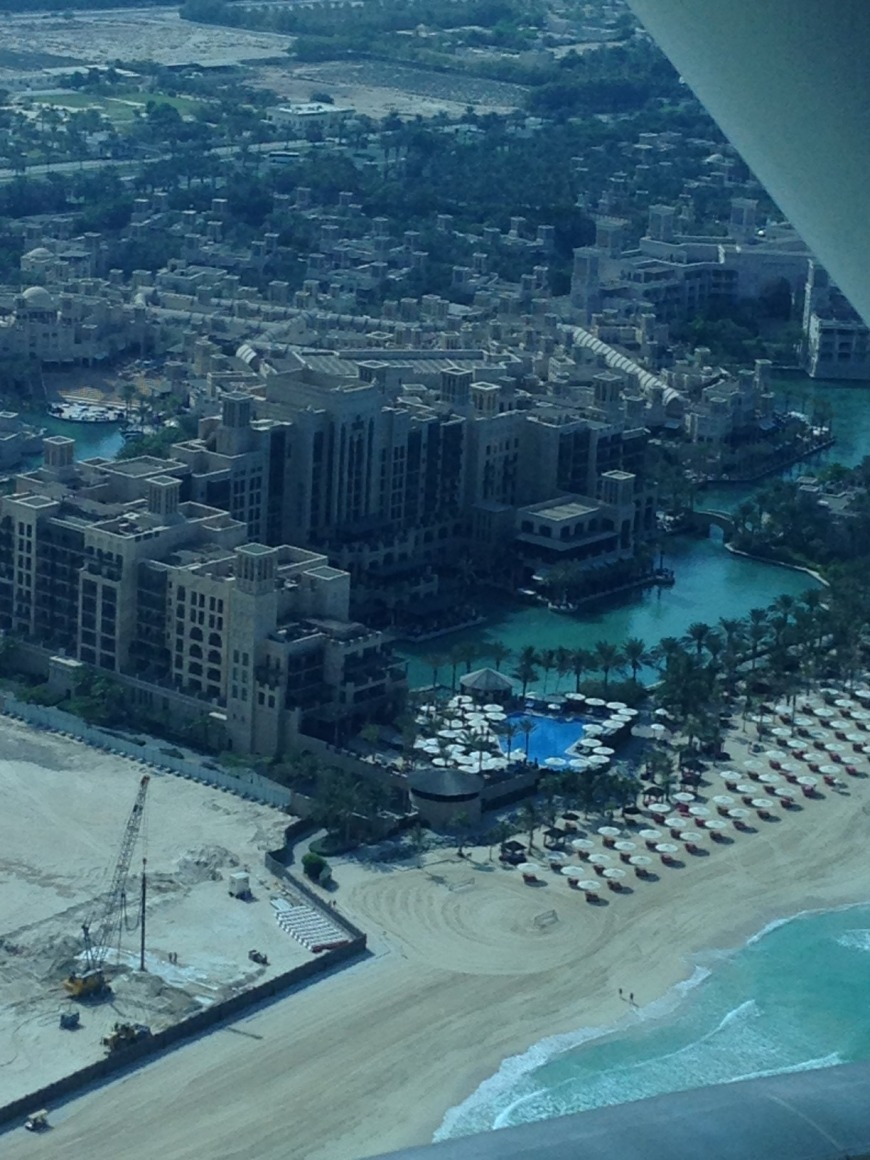 A view from the top at the Burj Al Arab