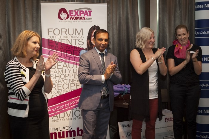 Women of Tomorrow Award Presentation at an Evening with ExpatWoman