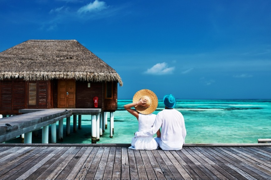 Maldives... With blue beaches, houses on stilts and an abundance of marine life, this place is paradise