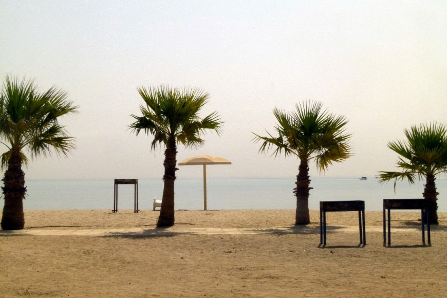 Located 20 km south of Kuwait City, Egaila Beach Park is a popular beach are for families and gatherings. Photo Credit: kuwait-land