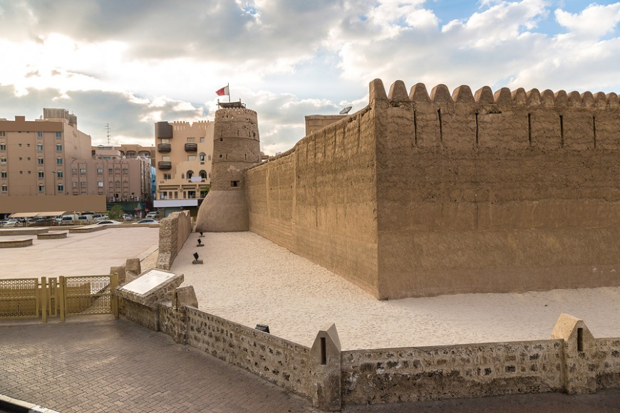 Dubai Museum: Located in the Fahidi District, the Dubai Museum is the main and oldest existing building in Dubai