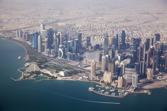 Arial view of Doha.