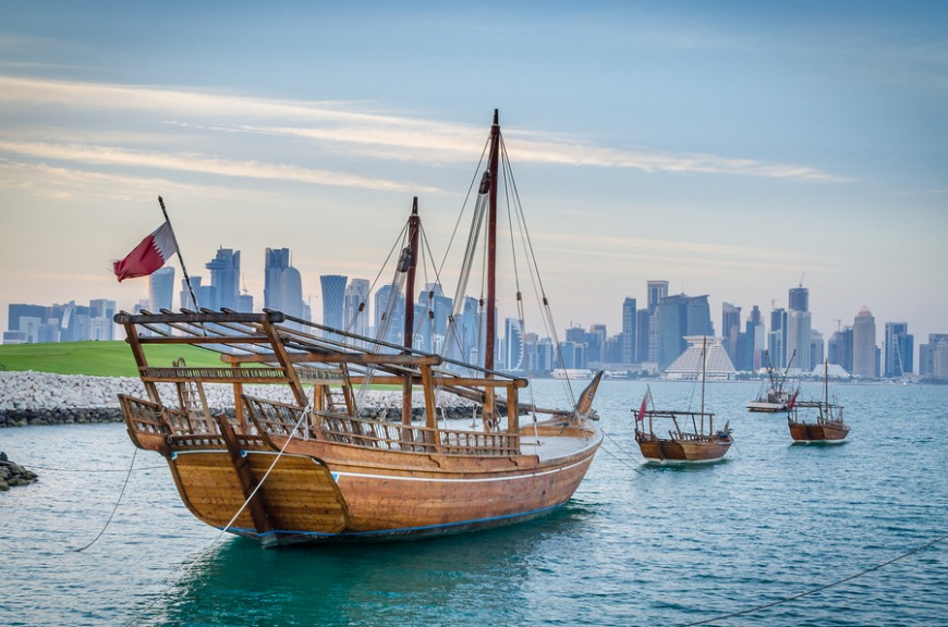 Taking a dhow cruise is a popular activity in Doha.