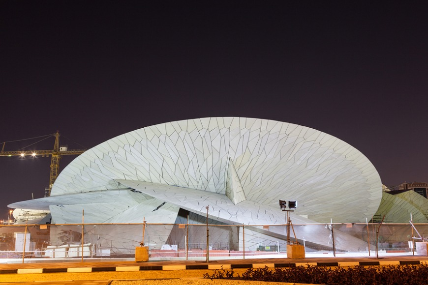 The Qatar National Museum will teach you about the country's rich history.