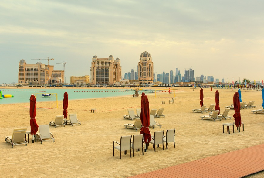 Katara Beach is conveniently located within Doha and has many activities for adults and kids.