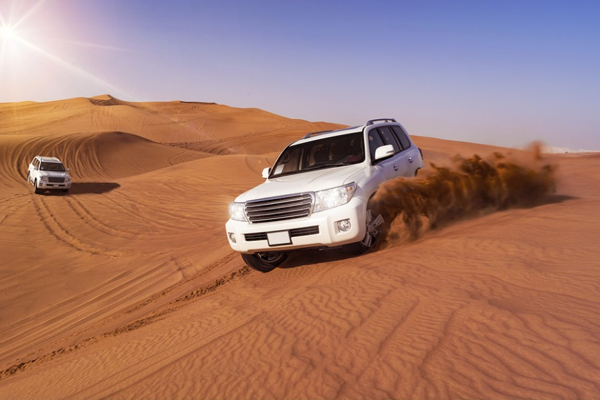 Dunebashing is an exhilarating experience that's very popular in Qatar.