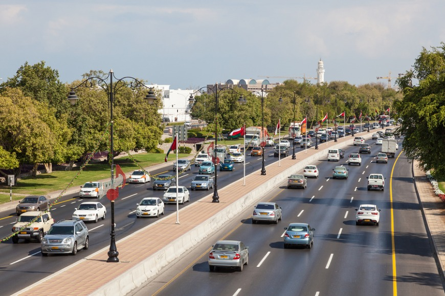 Cars and fuel are very cheap, but there is a high accident rate in Muscat.