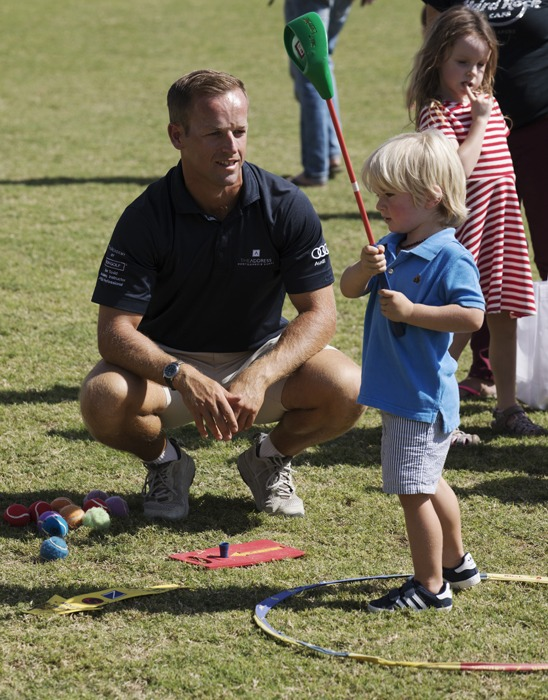 Teaching the new generation of golfers...