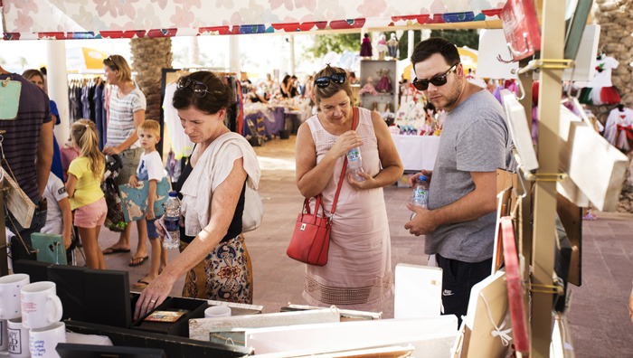 Shoppers browsing what was on offer from our talented crafters