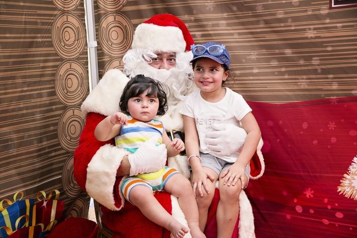 Santa and his friends at the Festive Family Fair!