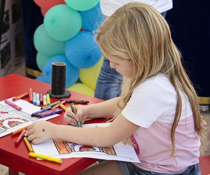 There was lots of fun, free activities for the kids to enjoy on the day!