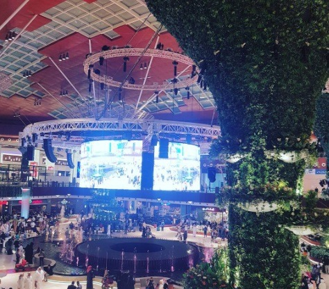 Mall of Qatar 360 stage.  | Photo: IG @jrgeneroso