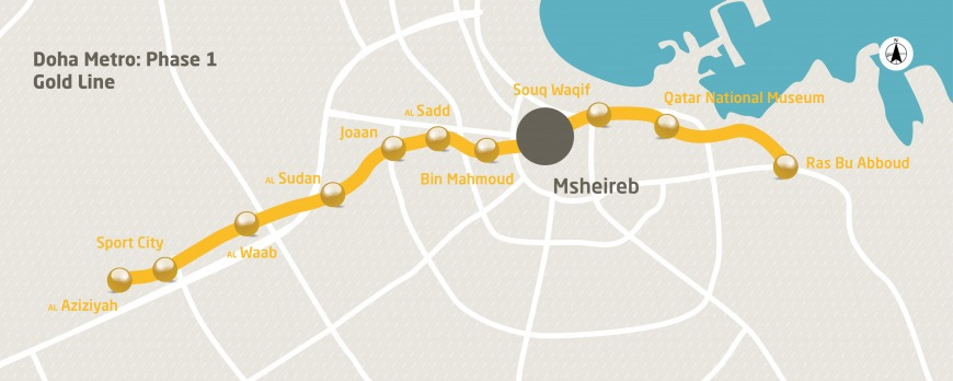 This is the Gold Line metro map.