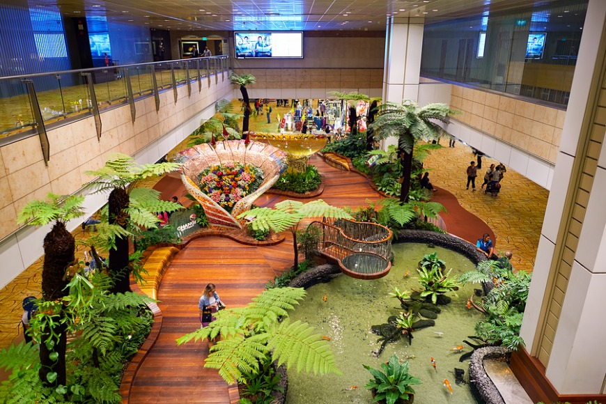 You hang out at the Changi aiport just because it's amazing.