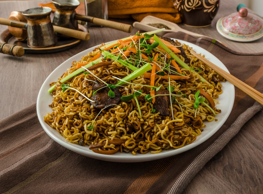 You will spend all day to find the right fried noodles.