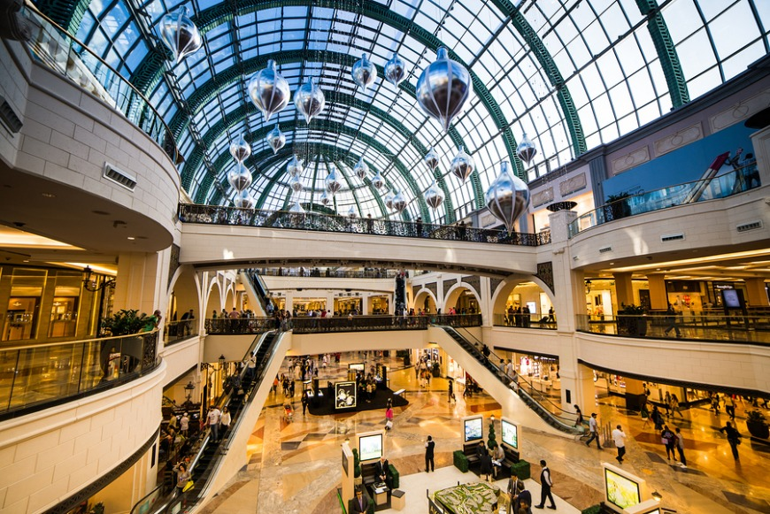 The best shopping malls