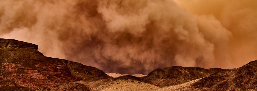 In Pictures: A Sandstorm is Sweeping Through Saudi Arabia