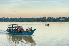 Using the water taxi's in Vietnam