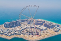 In Pictures: Ain Dubai Wheel is Halfway to Completion