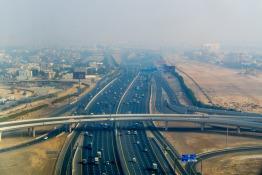 Why You Should Be Careful Driving Near Big Trucks in Dubai