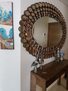 MIRROR WITH 2 DRAWER TABLE BY INDIGO LIVING