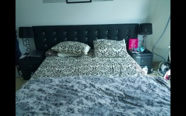 Black and white king size bedroom furniture