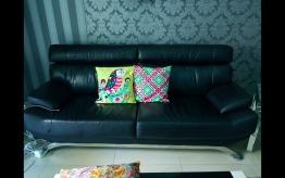 Pure leather 3 seater sofa