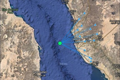 Earthquake Recorded Off The Coast Of Jeddah