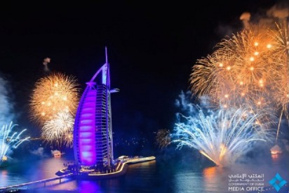 Amazing Pictures of Dubai's New Year's Fireworks