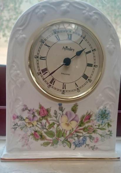 Aynsley bone China clocks