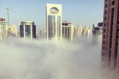 Dubai Residents Wake To A Blanket Of Fog