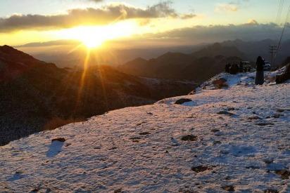 In Pictures: Snow in Saudi Arabia's Tabuk Region