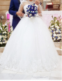 Gorgeous designer lace wedding gown