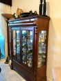 Mahogany wood display cabinet
